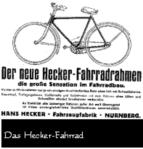 Hecker-Fahhradrahmen